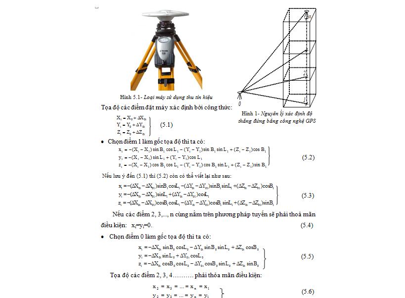 Nguyên lý kiểm tra độ thẳng đứng công trình bằng công nghệ GPS