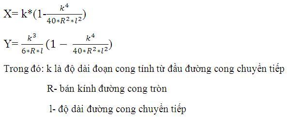 cong thuc tinh toa do diem chi tiet tren duong cong chuyen tiep