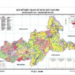 Hệ quy chiếu của bản đồ hiện trạng sử dụng đất