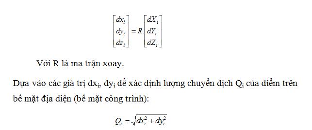 công thức tính chuyển hệ tọa độ