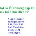 Một số lỗi thường gặp trong máy toàn đạc điện tử